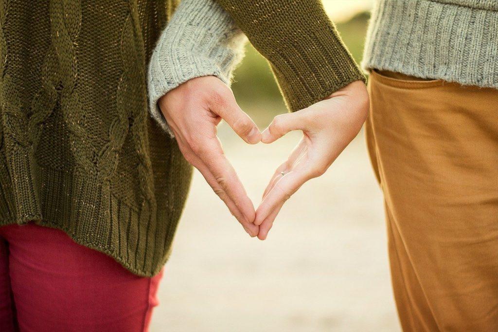 hands, heart, couple
